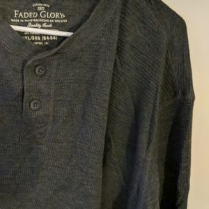 Faded Glory Shirts - Faded Glory Gray Long Sleeve Shirt Size 3XL/3XG